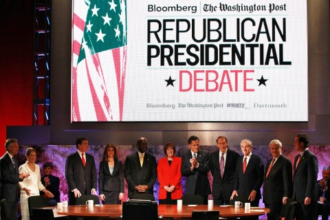 Republican Presidential Candidates Debate On Economy In New Hampshire
