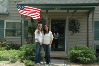 Image: Meghan and Mary McVey at their home during Joe Klein's annual road trip in Toledo, Ohio, on Saturday, June 16, 2012.