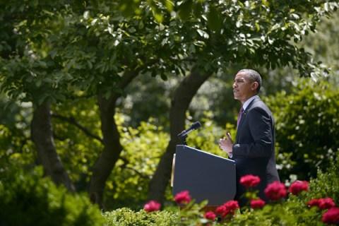 US President Barack Obama speaks in the
