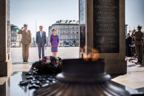 Mitt Romney Visits Warsaw On Last Leg Of Foreign Trip