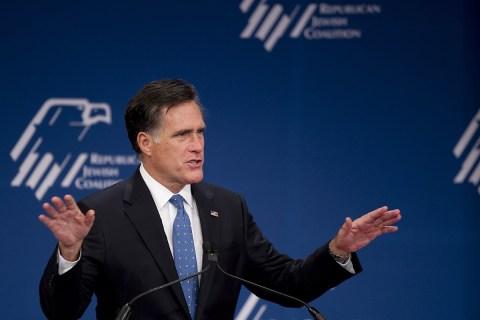 Mitt Romney during the RJC