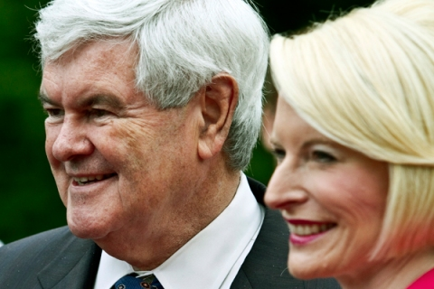 GOP Presidential Candidate Newt Gingrich Campaigns In North Carolina