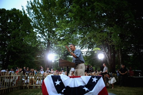 BESTPIX - Barack Obama Goes On 2-Day Campaign Swing In Ohio And Pennsylvania