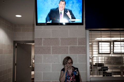Chris Christie speaks during the Republican National Convention