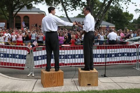 Republican Presidential Candidate Mitt Romney Announces Rep. Paul Ryan