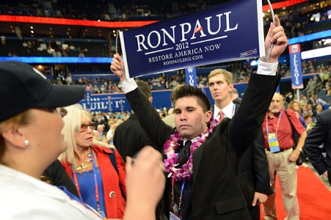 Ron Paul supporters RNC