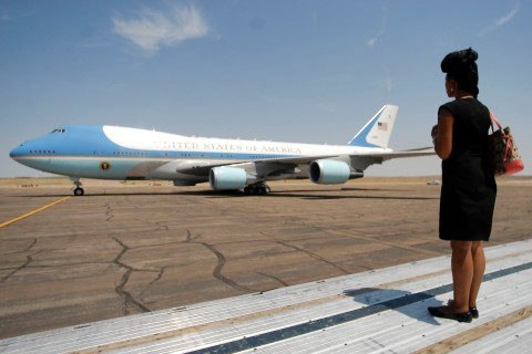 Air Force One on the Campaign Circuit