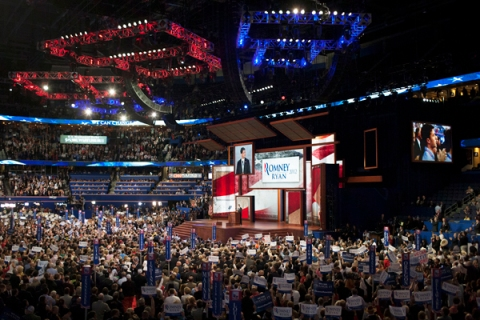 Paul Ryan's speech at the RNC in Tampa, FL, on Wednesday, Aug. 29, 2012.