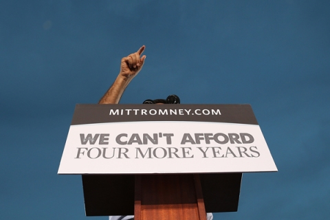 Romney Attends Victory Rally In Florida
