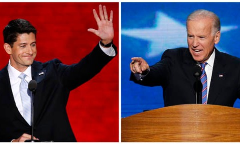 Combination photo of Vice President Biden and Republican vice-presidential nominee Paul Ryan.