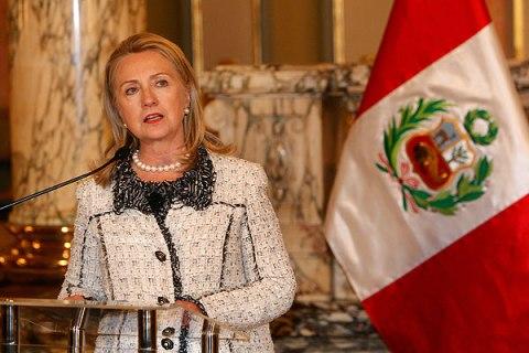 Clinton in Peru