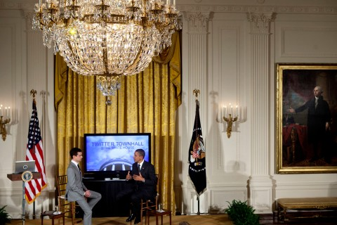 President Obama Holds Twitter Town Hall Meeting