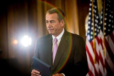 image: House Speaker John Boehner makes remarks on Capitol Hill in Washington, Nov. 7, 2012.