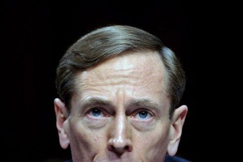 "Image: CIA Director David Petraeus testifies before the U.S. Senate Intelligence Committee during a full committee hearing on ""World Wide Threats"" in Washington, D.C. Jan. 31, 2012"