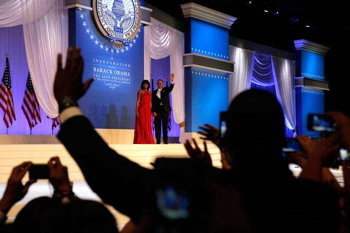 President Obama and Michelle dance at the Inaugural Ball