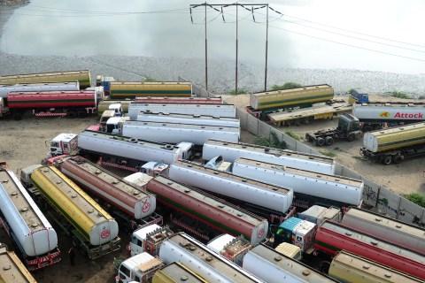 Fuel tanker trucks, used to transport fu