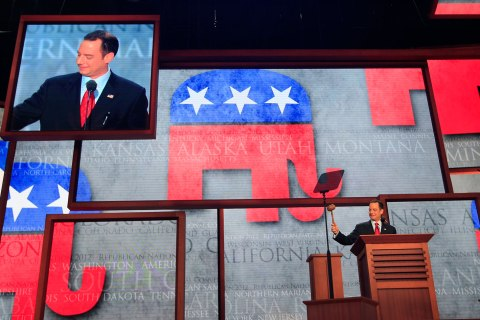 Republican National Committee Chairman Reince Priebus gavels the opening of the second session of the 2012 Republican National Convention in Tampa, Fla., Aug. 28, 2012.