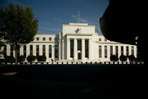 image: The Federal Reserve building stands in Washington, Oct. 23, 2012.