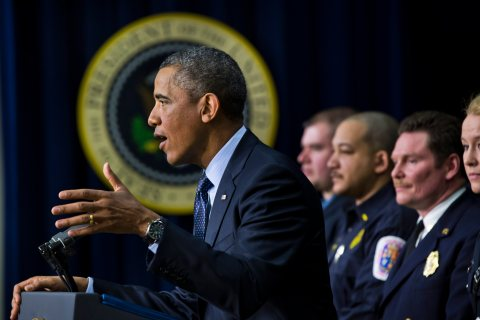 President Obama and first reponders comment on budget cuts