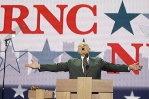 Former New York City Mayor Ed Koch at the 2004 Republican National Convention in New York.