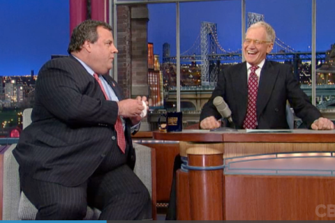 Chris Christie on Letterman