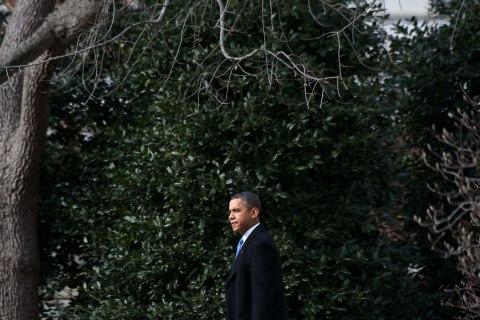 President Barack Obama departs the White House in Washington, Feb. 4, 2013.