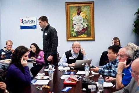 Mitt Romney for President Headquarters phone bank