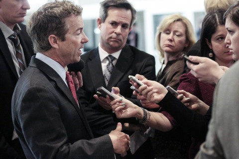 Senate Leaders Speak To Press After Weekly Policy Luncheon