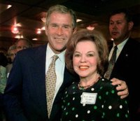 Shirley Temple Black and George W. Bush