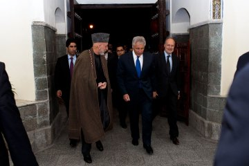 Karzai and Hagel