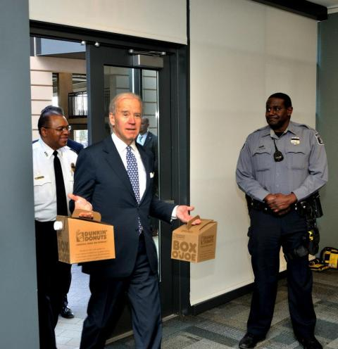 Joe Biden Visits Alexandria Police Dept.