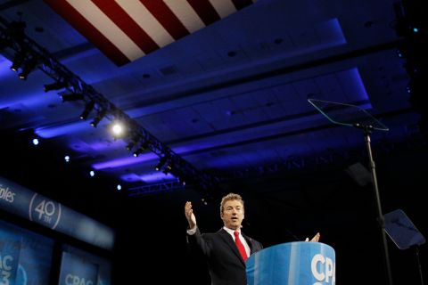 Rand Paul and Marco Rubio attend CPAC 2013