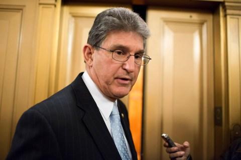 Senator Manchin speaks to the media on Capitol Hill in Washington