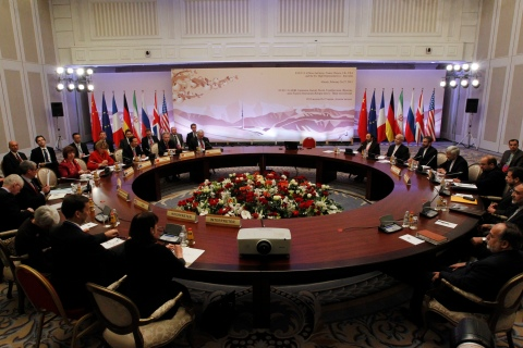 Top officials from Iran and the six powers take part in talks on Iran's nuclear programme in Almaty