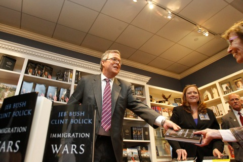 "Former Governor of Florida Jeb Bush signs copies of his book ""Immigration Wars: Forging an American Solution"" in Simi Valley"