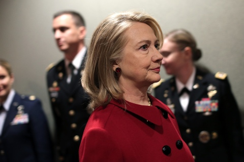 Defense Department Holds Ceremony To Honor Hillary Clinton
