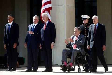 Barack Obama, George W. Bush, Bill Clinton, George H.W. Bush, Jimmy Carter