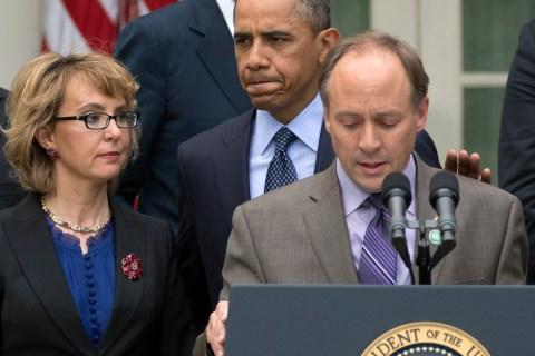 Barack Obama, Mark Barden, Gabby Giffords