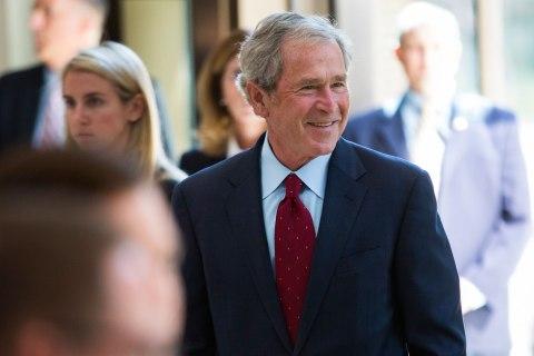 Former President George W Bush Opens  Library in Dallas
