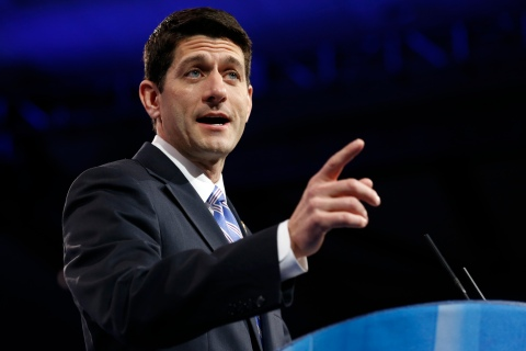 Paul Ryan speaks at the Conservative Political Action Conference (CPAC) in Maryland