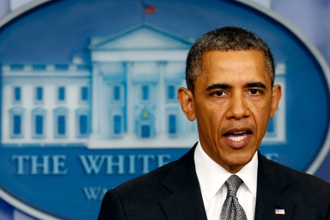 Obama makes a statement on the Boston bombing from the White House in Washington