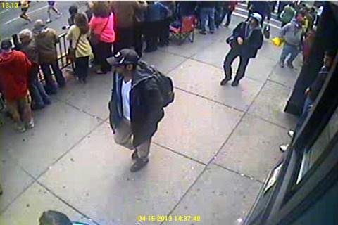 From left: Boston Marathon bombing suspects Tamerlan and Dzhokhar Tsarnaev in Boston, Mass., on April 15, 2013.