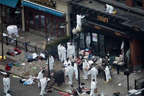Boston Marathon crime scene