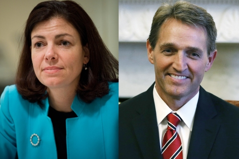 From Left: Senator Kelly Ayotte and Senator Jeff Flake.