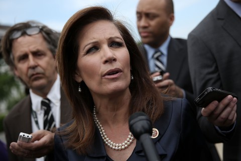 Michele Bachmann after a news conference on Capitol Hill in Washington, D.C., on May 16, 2013.