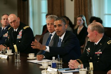 Obama Meets With Hagel, Dempsey, Military Leaders At White House