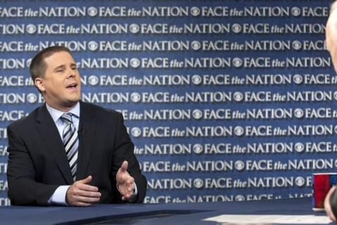 From left: White House Senior Advisor Dan Pfeiffer appears on Face The Nation in Washington, D.C., on May 19, 2013.