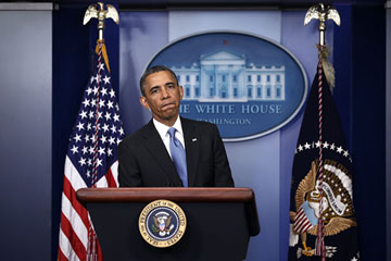 President Obama Takes Questions From The Press During News Conference