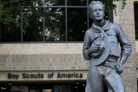 The entrance to Boy Scouts of America headquarters in Irving, Texas, on Feb. 5, 2013.