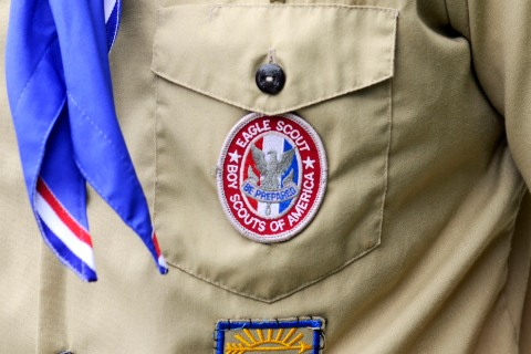 An Eagle Scout patch is pictured in Orlando, on May 30, 2012.